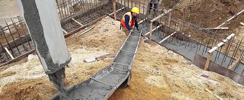 Заливка бетона в жару